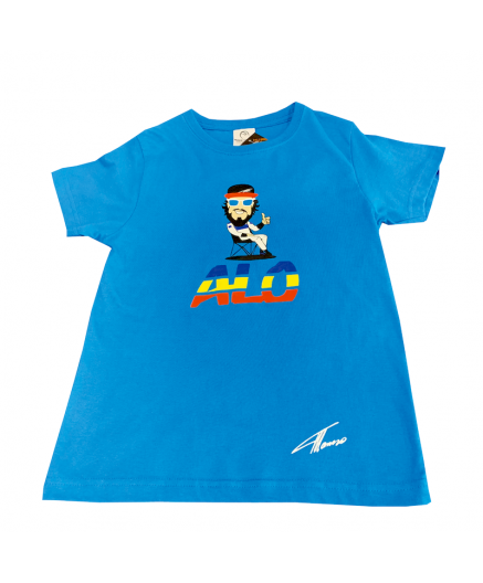 Blue Fernando Alonso ilustration  t-shirt  (Kids)