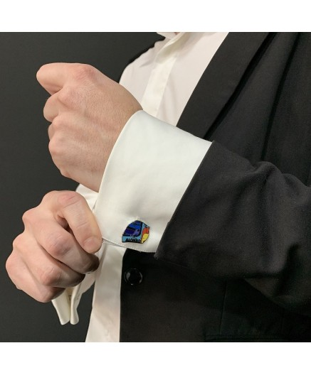Fernando Alonso's helmet cuff links