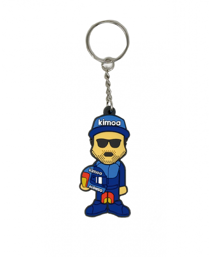 KEY CHAIN MINI FERNANDO ALONSO BY KIMOA